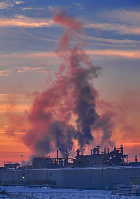 Factory at Dawn